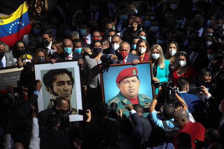 Chavistas tomam posse na Assembleia da Venezuela e ameaçam oposição