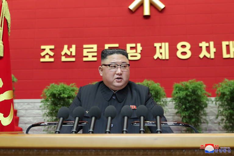 Kim Jong-un admite revés de plano econômico em congresso na Coreia do Norte