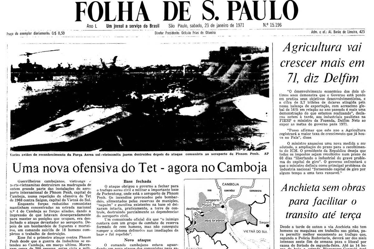 1971: Ofensiva de guerrilheiros no Camboja deixa 200 mortos