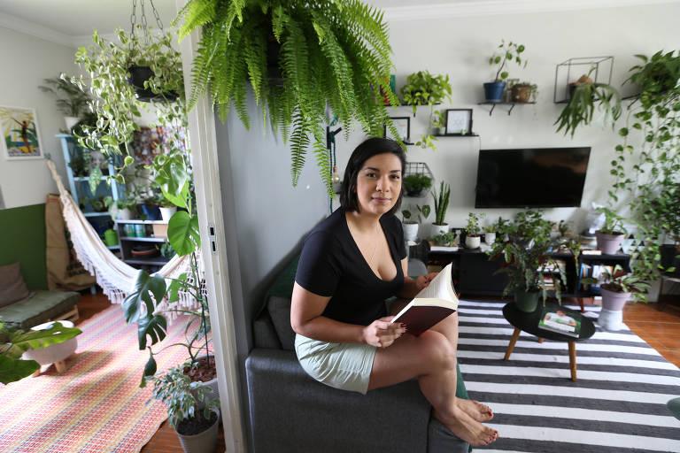 Aline Rodrigues trouxe a natureza para dentro de casa