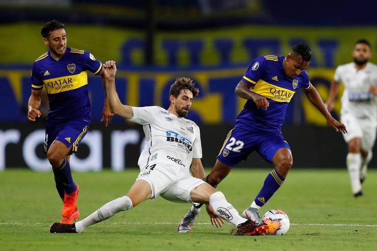 Boca Juniors e Santos empatam na Bombonera