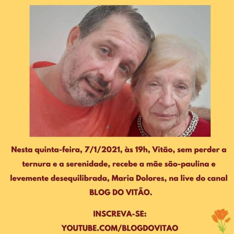 Nesta quinta-feira entrevista, o colunista Vitor Guedes entrevista sua mãe Dolores no canal Blog do Vitão no YouTube