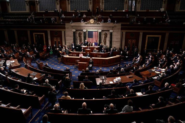 Sessão conjunta do Senado e da Câmara dos Deputados dos EUA certifica resultado do Colégio Eleitoral e sela vitória de Joe Biden como presidente dos EUA