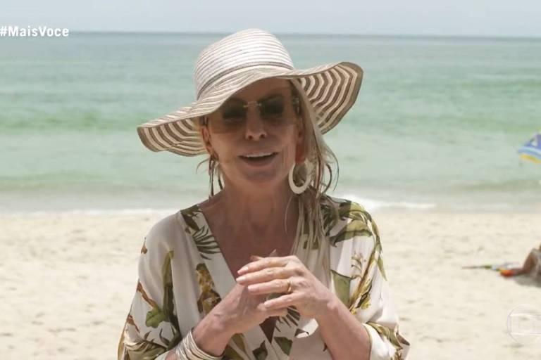 Ana Maria Braga grava programa de Maresias