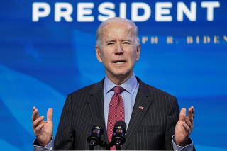 U.S. President-elect Joe Biden announces economics and jobs team nominees at transition headquarters in Wilmington, Delaware