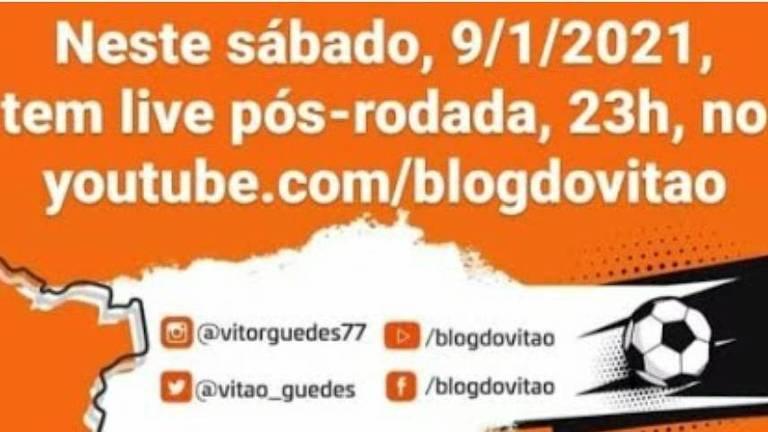 No pós-rodada, o Canal BLOG DO VITÃO chega ao vivo, às 23h, com a repercussão da rodada: destaque para Sport x Palmeiras.