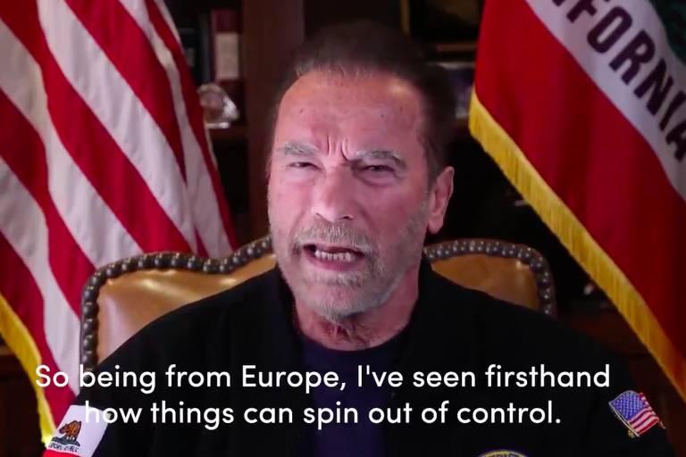 Schwarzenegger compara invasão do Capitólio a episódio nazista da Noite dos Cristais