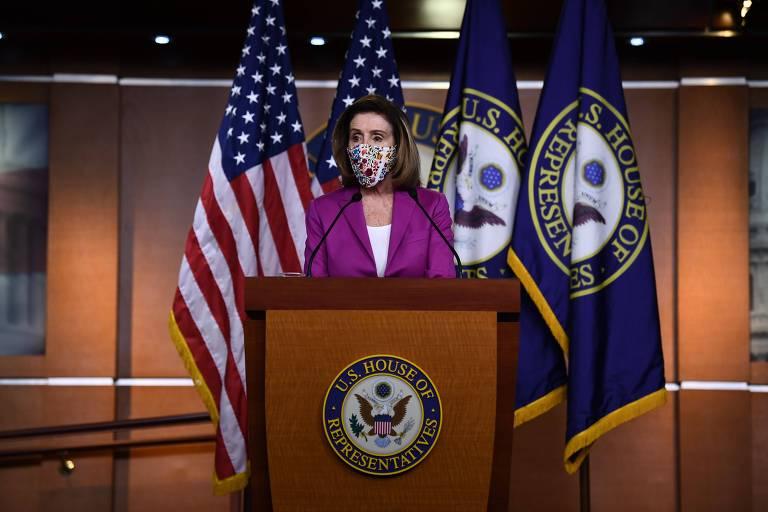 A presidente da Câmara dos Deputados dos EUA, Nancy Pelosi