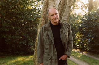 Tim Berners-Lee, at home in Oxfordshire, England, on Dec. 20, 2020.  (Lola and Pani/The New York Times)
