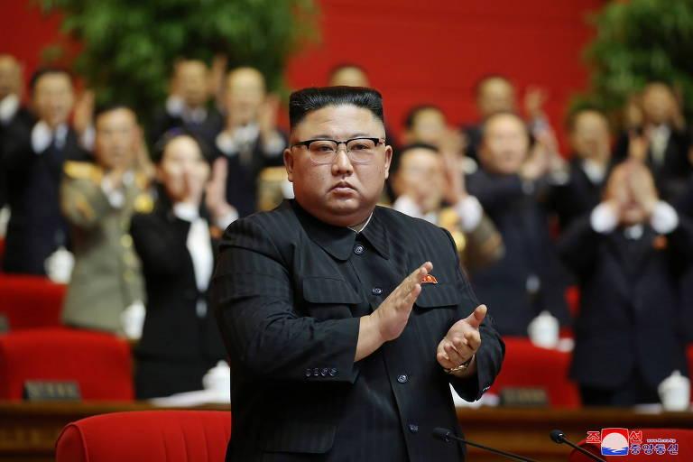 O ditador Kim Jong-un participa do Congresso do partido em Pyongyang