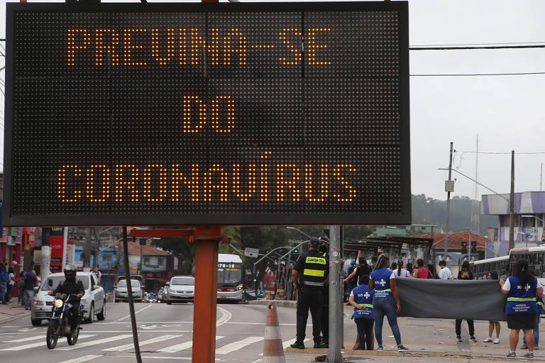 Blitze da prefeitura sobre prevenção contra o novo coronavírus