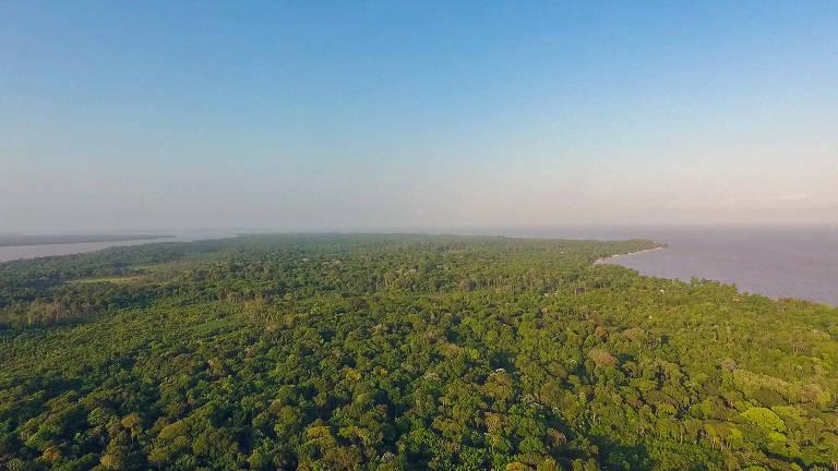 Comunidade da Pedra Branca, na ilha de Cotijuba, no Pará, região beneficiada pelo negócio social Da Tribu