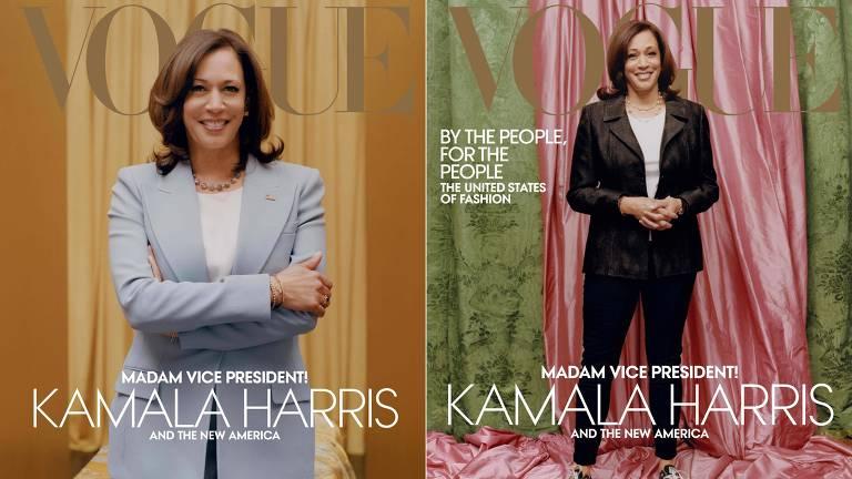 Vice-presidente Kamala Harris na capa da Vogue americana