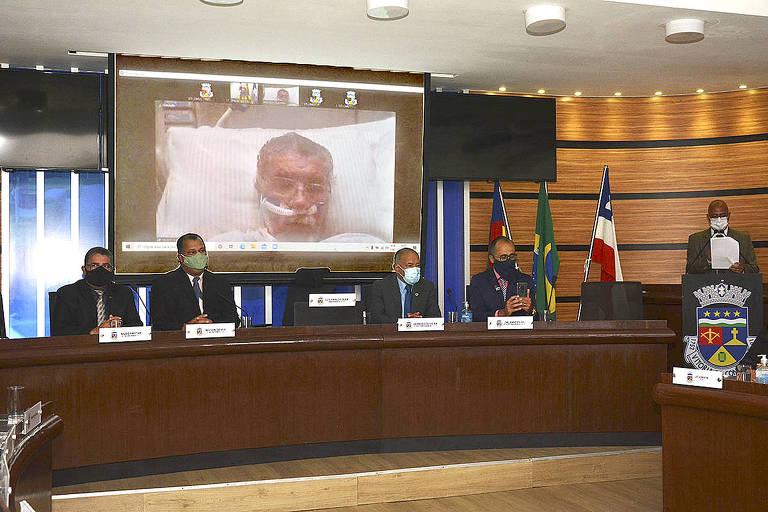 Posse virtual do prefeito Herzem Gusmão
