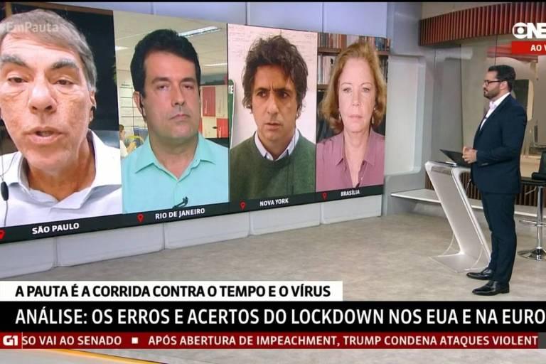Comentaristas da GloboNews se desentendem