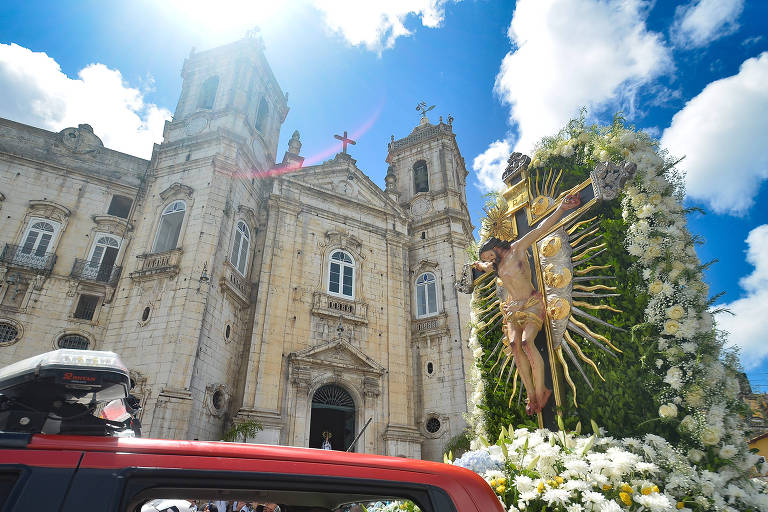 Cortejo da imagem do senhor do Bonfim em Salvador
