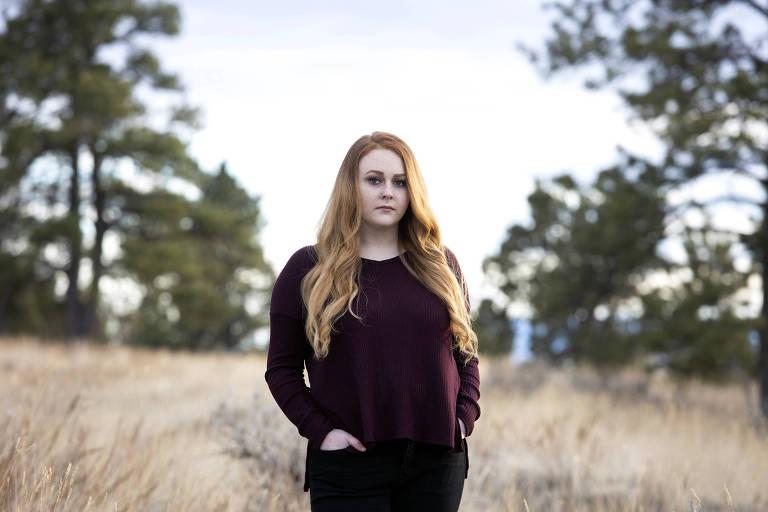 Lexi Eixenberger, que perdeu três empregos na pandemia e passou a vender conteúdo no OnlyFans, em Billings, no estado de Montana
