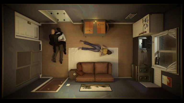 Cena de '12 Minutes', jogo que tem no elenco Willem Dafoe, James McAvoy e Daisy Ridley
