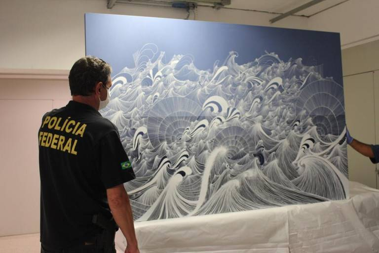 Obra de Sandra Cinto apreendida em fase da Lava Jato