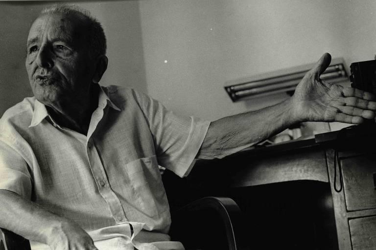 Luís Carlos Prestes em foto de maio de 1986