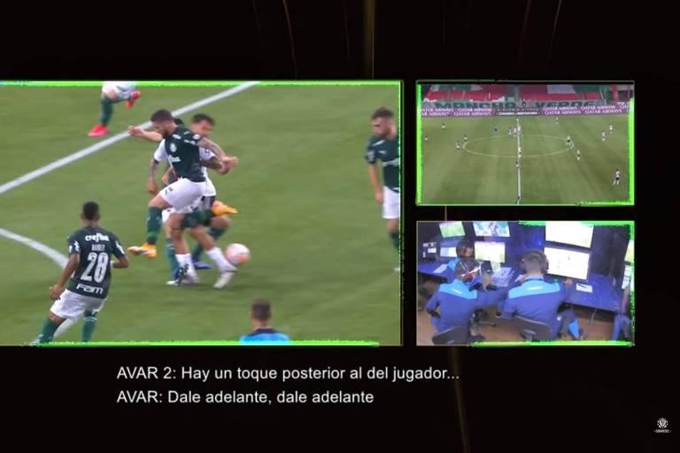 Diálogo do VAR em gol anulado do River Plate contra o Palmeiras