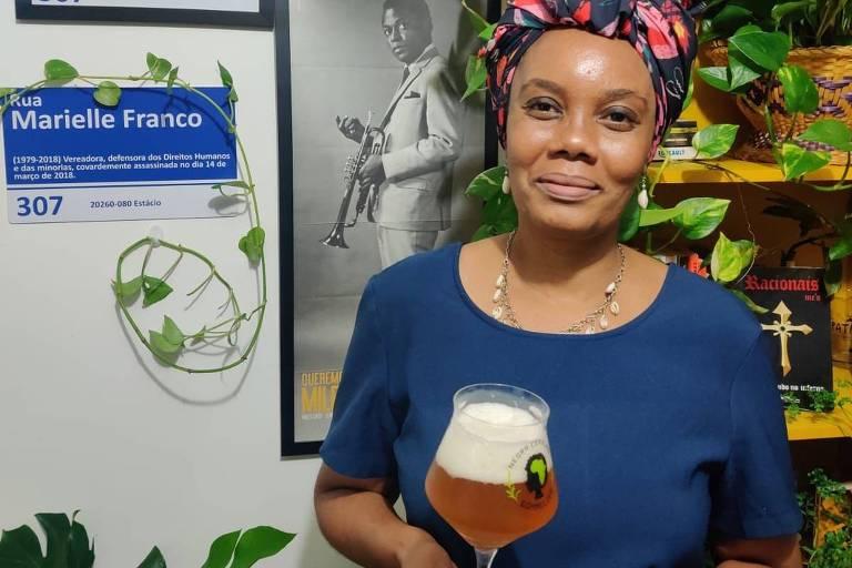 Sommeliers que participaram da produção da cerveja em homenagem a cultura negra