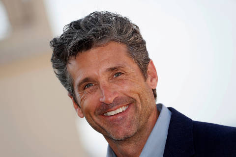 FILE PHOTO: Actor Patrick Dempsey poses during a photocall during the annual MIPCOM television programme market in Cannes, France, October 14, 2019. REUTERS/Eric Gaillard/File Photo ORG XMIT: FW1