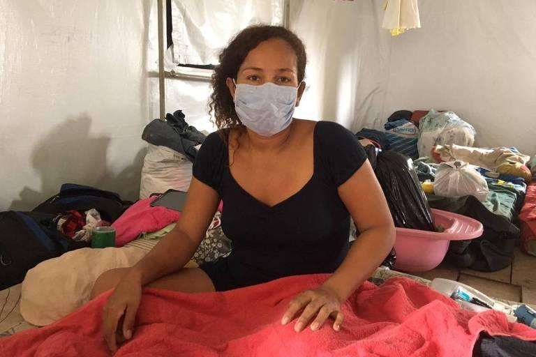 Claritza Magdalena Suarez, 39, em abrigo para venezuelanos em Manaus