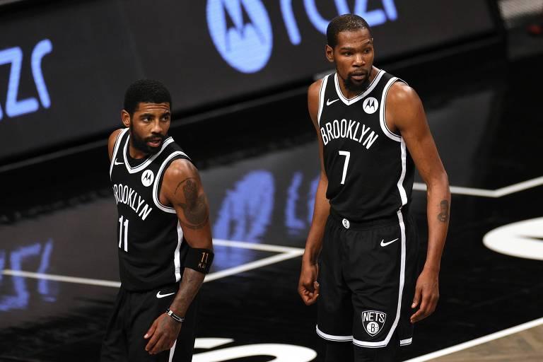 Kyrie Irving e Kevin Durant receberão o novo astro em busca do título da NBA