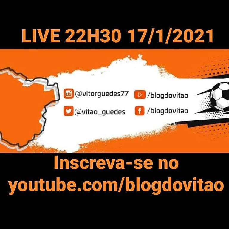 Convite da Live do colunista Vitor Guedes