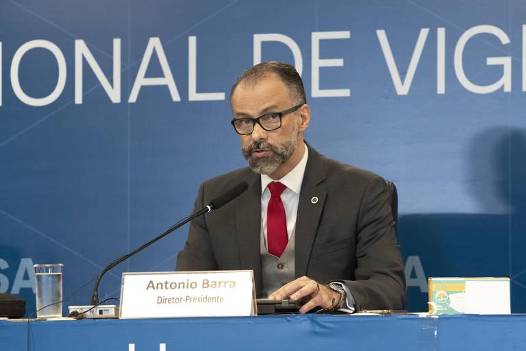 Diretor-presidente da Anvisa, Antonio Barra Torres durante reunião extraordinária que liberou o uso emergencial das vacinas do Butantan e Fiocruz