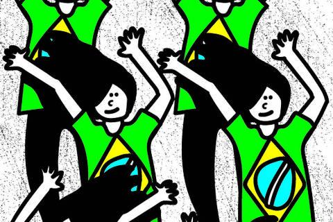 Ilustração de Silvis para a coluna de Manuela Cantuária de 19 de janeiro de 2021