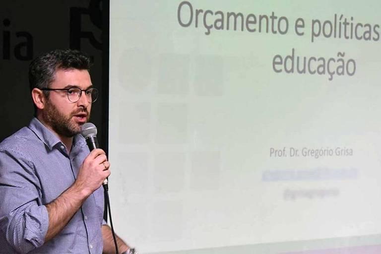 Gregório Grisa, professor do Instituto Federal do Rio Grande do Sul, em palestra