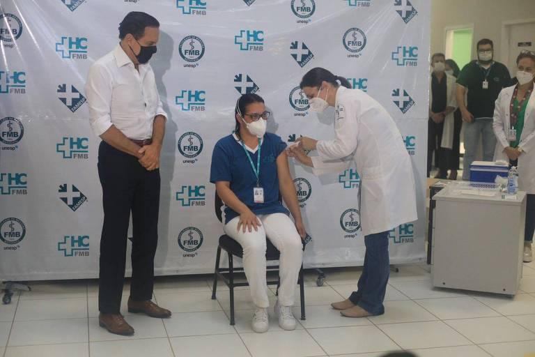 Doria faz tour da vacina pelo interior de São Paulo