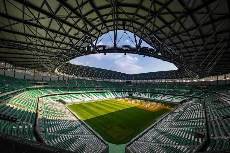O estádio Education City, em Doha, receberá o representante brasileiro na semifinal do Mundial da Fifa