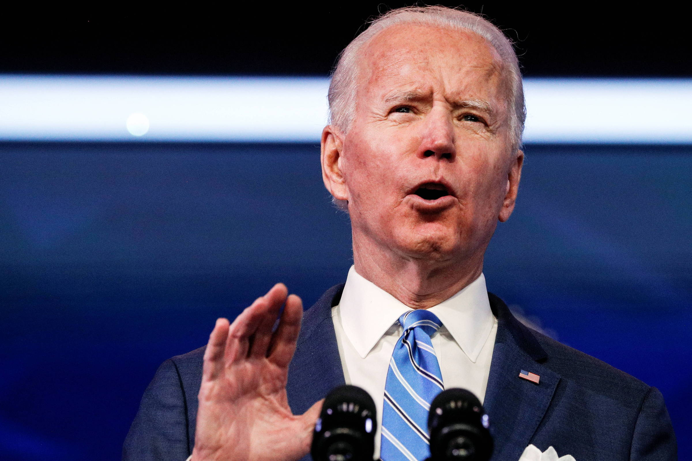 Jovem Joe Biden encontrou confiança e aceitação no futebol americano