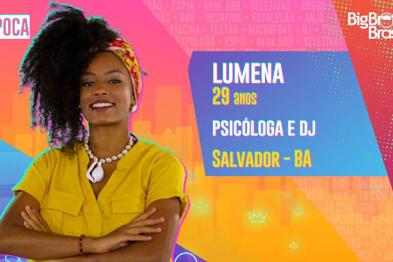 F5 - Televisão - BBB21 - BBB 21: Lumena Aleluia é DJ de pagodão baiano e quer ser mãe em breve - 19/01/2021