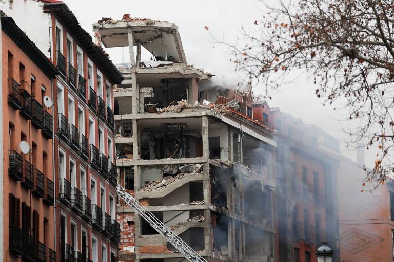 Forte explosão em prédio no centro de Madri deixa ao menos 4 mortos