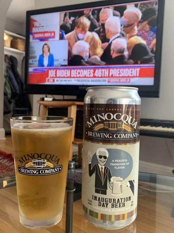 Inauguration Day Beer, cerveja da Minocqua Brewing Company em homenagem a eleição de Joe Biden e Kamala Harris