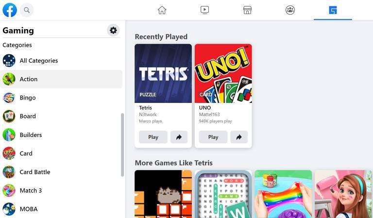 Facebook disponibiliza uma gama variada de clássicos e contemporâneos para jogar com família e amigos