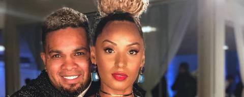 Cantora Nanah Damasceno com o ex-marido Rodriguinho