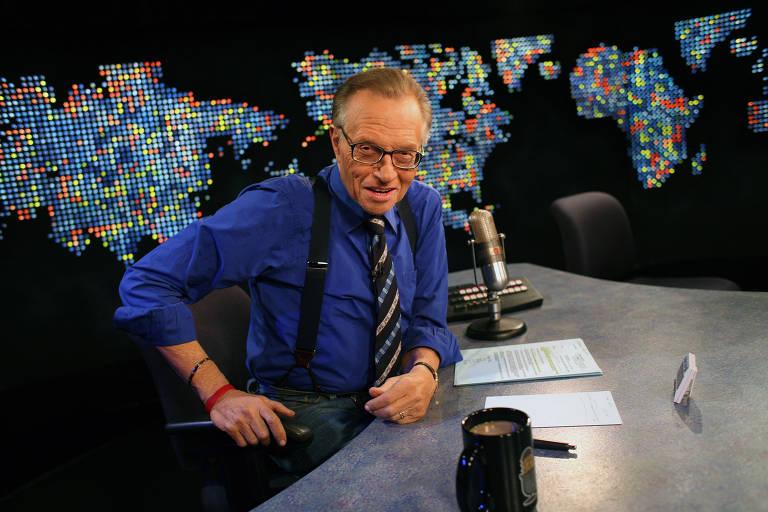 O apresentador de TV americano Larry King
