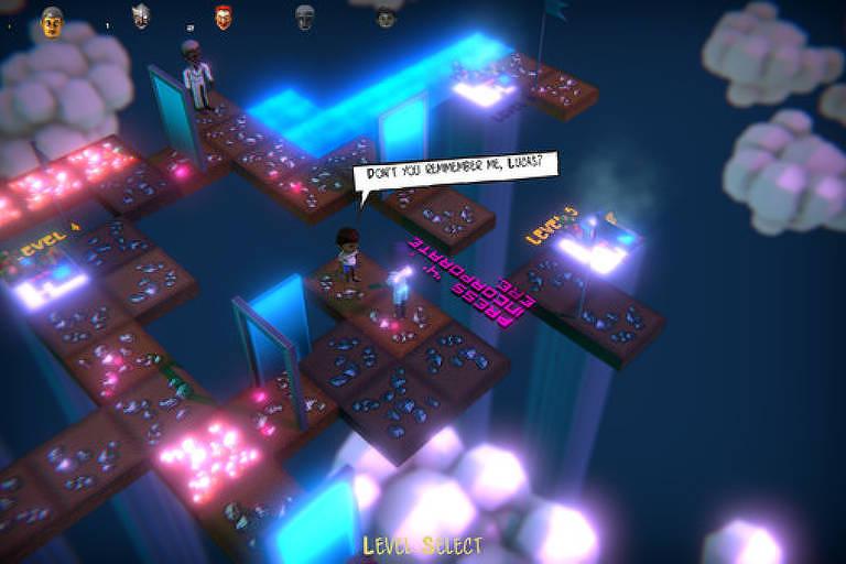 Screenshot do jogo 'Inner Maze', que fala sobre umbanda