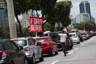 Protest against Brazil's President Jair Bolsonaro and his handling of the Coronavirus disease crisis