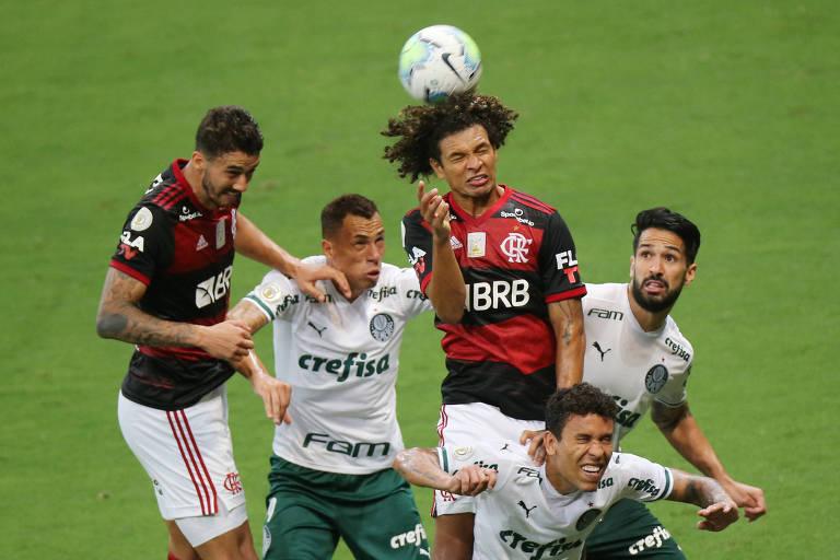 Rivalidade entre Flamengo e Palmeiras ainda é virtual