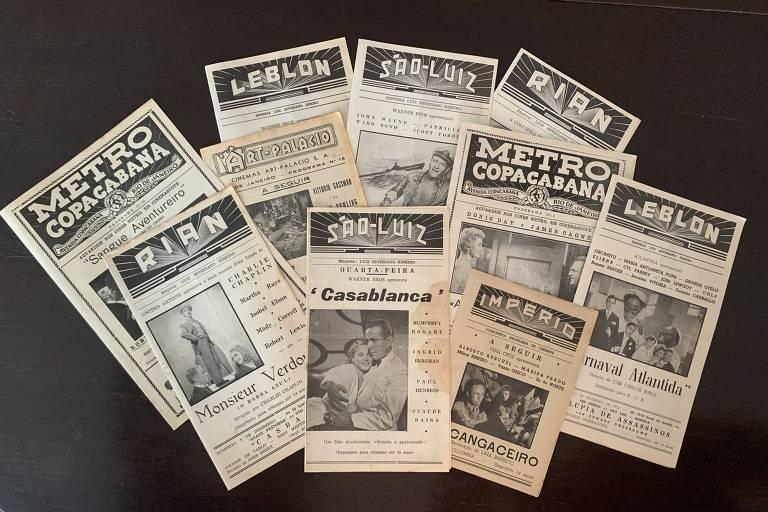 Programas de cinemas do Rio dos anos 40 e 50
