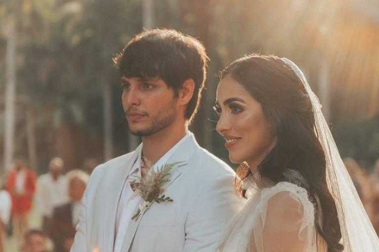 Jade Seba e Bruno Guedes se casam no Rio de Janeiro
