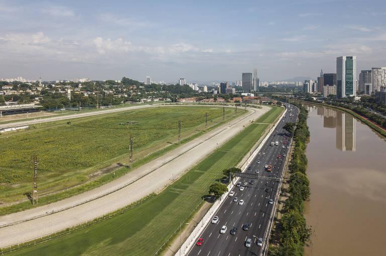 Terreno de mais de 600 mil m² do Jockey fica às margens da Marginal Pinheiros, em área valorizada
