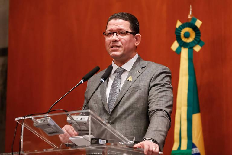 Governador de Rondônia, Marcos Rocha, durante evento
