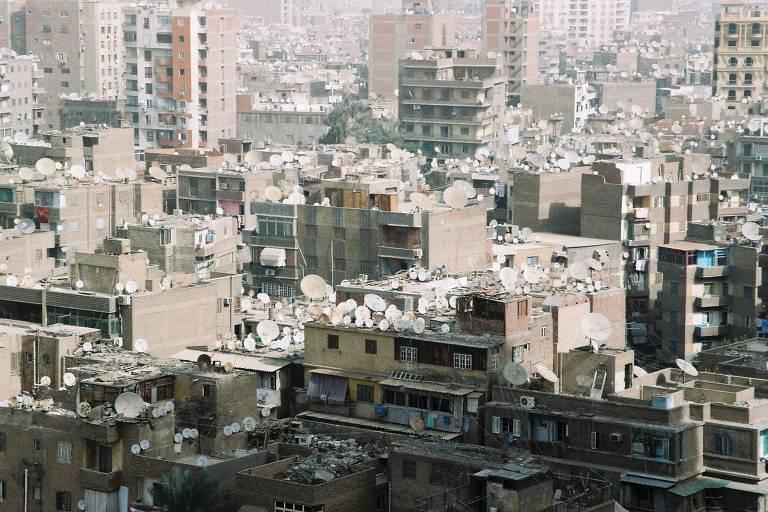 Foto tirada no Cairo, a capital do Egito, dez anos após a Primavera Árabe